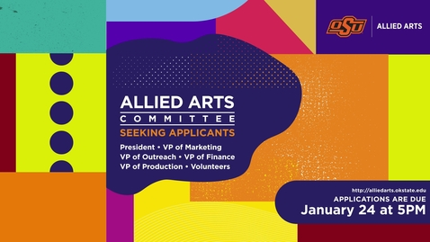 Thumbnail for entry Allied Arts 2020: Wanna Join our Team?
