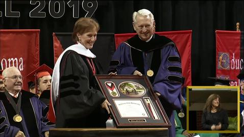Thumbnail for entry First Cowgirl Receives Honorary Degree