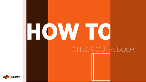Thumbnail for entry How To Check Out A Book