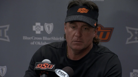 Thumbnail for entry OSU/TCU Football Postgame: Mike Gundy Speaks to the Media