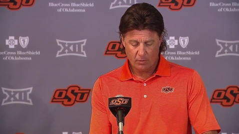 Thumbnail for entry OSU/Tulsa Preview: Mike Gundy Speaks to the Media