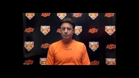 Thumbnail for entry CHEEZ-IT BOWL:  Mike Gundy Speaks to the Media