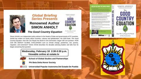 Thumbnail for entry Global Briefing Series--Simon Anholt