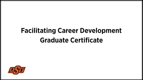 Thumbnail for entry Higher Education and Student Affairs, Certification in Career Development