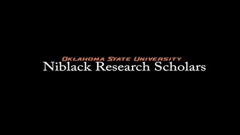 Thumbnail for entry Sage Becker, 2017-18 Niblack Research Scholar
