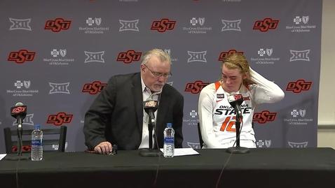 Thumbnail for entry Cowgirl Basketball vs. Kansas State: Postgame