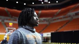 Thumbnail for entry Cowboy Basketball: Isaac Likekele Addresses The Media
