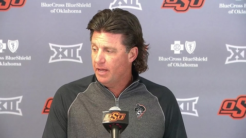 Thumbnail for entry OSU/Iowa State Preview: Head coach Mike Gundy Speaks to the Media