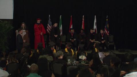 Thumbnail for entry Spring 2018 Commencement:  School of Global Studies and Partnerships Hooding Ceremony