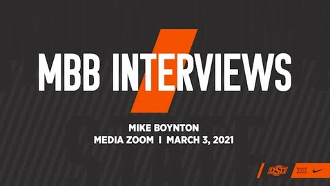 Thumbnail for entry COWBOY BASKETBALL: Head Coach Mike Boynton Addresses the Media and Previews the Baylor and West Virginia Games.