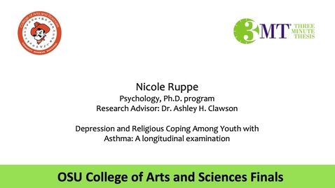 Thumbnail for entry Nicole Ruppe: CAS 3MT Graduate Finals