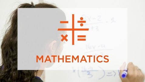 Thumbnail for entry CAS Major Profile: Mathematics