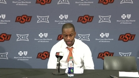 Thumbnail for entry OSU/UH Men's Basketball Postgame: Mike Boynton and Players Speak to the Media