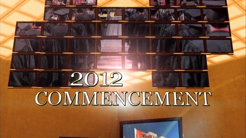 Thumbnail for entry Fall 2012 Commencement:  Graduate College