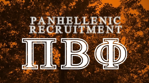 Thumbnail for entry Panhellenic House Tour - Pi Beta Phi