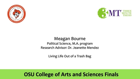 Thumbnail for entry Meagan Bourne: CAS 3MT Graduate Finals