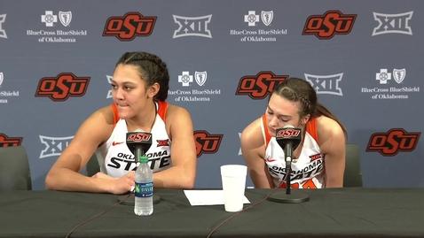 Thumbnail for entry OSU/UT Women's Basketball Postgame: Jim Littell and Players Speak to the Media