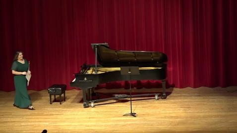 Thumbnail for entry Greenwood School of Music Senior Recital--Hope Bruening