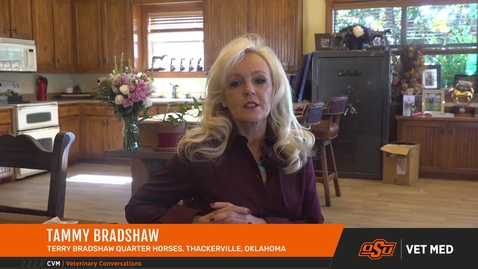 Thumbnail for entry OSU Veterinarians Treat a Show Horse for Terry Bradshaw