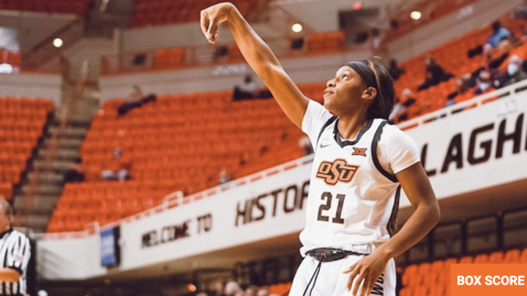 Thumbnail for entry 11/30/20 Cowgirl Basketball: OSU Cowgirl Basketball Head Coach Jim Littell and players Ja'Mee Asberry and Brittany Reeves Address The Media After A Win Over Oral Roberts.