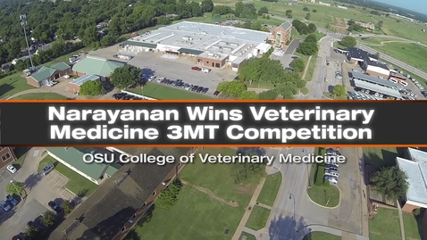 Thumbnail for entry Narayanan Wins Vet Med 3 Minute Thesis Competition