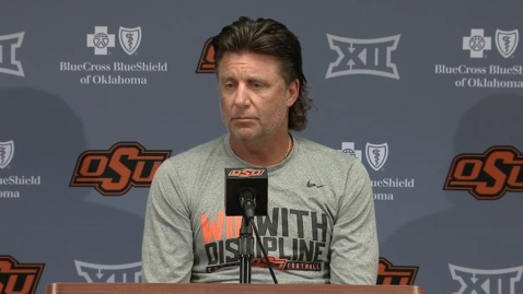 Thumbnail for entry FAN DAY:  Mike Gundy Speaks to the Media