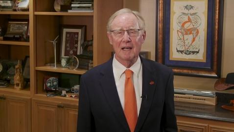 Thumbnail for entry Oklahoma State University President Burns Hargis Statement Regarding the Passing of Boone Pickens