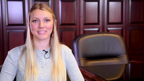 Thumbnail for entry HDFS graduate Samantha Johnson
