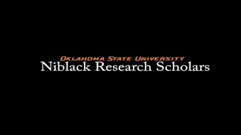 Victoria Pickens, 2017-18 Niblack Research Scholar