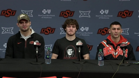 Thumbnail for entry Cowboy Wrestling v Iowa Post-Dual Press Conference: Players Address the Media