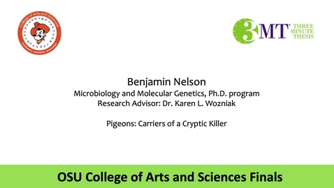 Thumbnail for entry Benjamin Nelson: CAS 3MT Graduate Finals