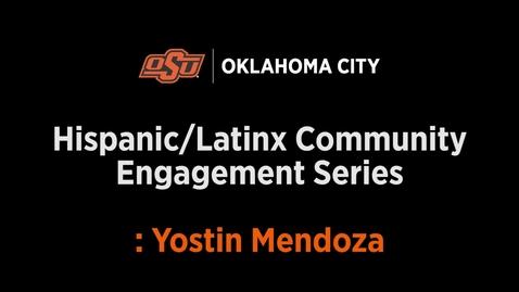 Thumbnail for entry Yostin Mendoza outreach Interview