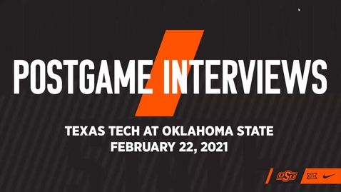 Thumbnail for entry COWBOY BASKETBALL; OSU/Texas Tech Postgame Press Conference