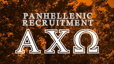 Thumbnail for entry Panhellenic House Tour - Alpha Chi Omega