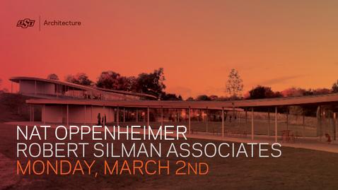 Thumbnail for entry SoA Lecture Series: Nat Oppenheimer