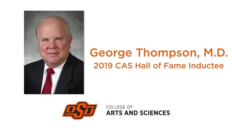 Thumbnail for entry George Thompson CAS Hall of Fame Induction 2019