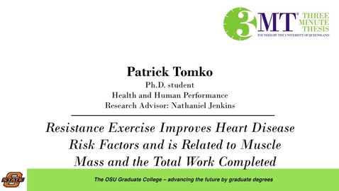 Thumbnail for entry 2018 3 Minute Thesis Finals: Patrick Tomko