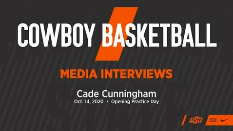 Thumbnail for entry BASKETBALL: OSU Cowboy Player Cade Cunningham Addresses the Media