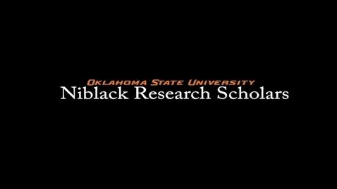 Thumbnail for entry Taylor Walton, 2017-18 Niblack Research Scholar