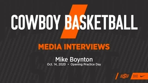 Thumbnail for entry BASKETBALL: OSU Cowboy Head Coach Mike Boynton Addresses the Media