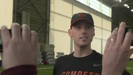 Thumbnail for entry SPRING FOOTBALL:  Sean Gleeson Speaks to the Media