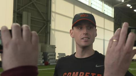 Thumbnail for entry SPRING FOOTBALL:  Sean Gleeson Speaks to the Media