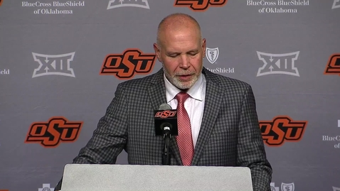 Thumbnail for entry 9/11/21:  Jim Knowles  OSU/Tulsa Postgame Comments