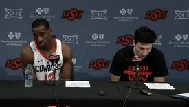 Thumbnail for entry Cowboy Basketball v. Texas Tech Postgame Press Conference: Lindy Waters II and Cameron McGriff