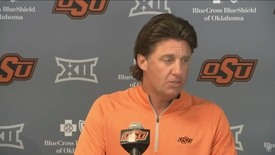 Thumbnail for entry BEDLAM FOOTBALL PREVIEW:  Mike Gundy Speaks to the Media
