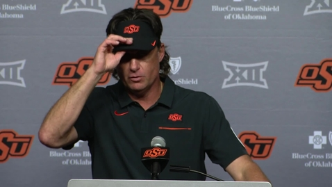 Thumbnail for entry OSU v. Kansas State: Gundy Postgame