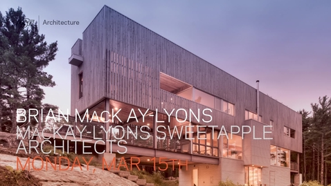 Thumbnail for entry SoA Lecture Series: Brian MacKay-Lyons