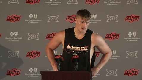 Thumbnail for entry FOOTBALL: OSU Cowboy Football Player Logan Carter Addresses the Media
