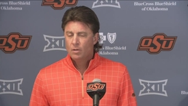 Thumbnail for entry OSU/BU Football Preview: Mike Gundy Speaks to the Media