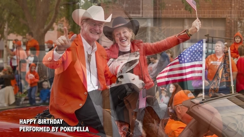 Thumbnail for entry Happy Birthday to President Hargis and the First Cowgirl!